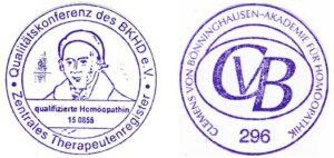 BKHD und CvB Stempel